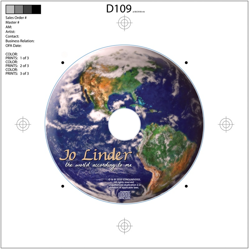 """Jo Linder """"The World According to Me"""" CD"""